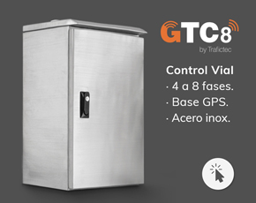 Semáforo LED Preventivo con Panel Solar
