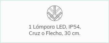 Làmpara LED IP64 cruz o flecha de 30 cm