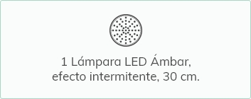 1 Lámpara LED Ámbar, efecto intermitente, 30 cm
